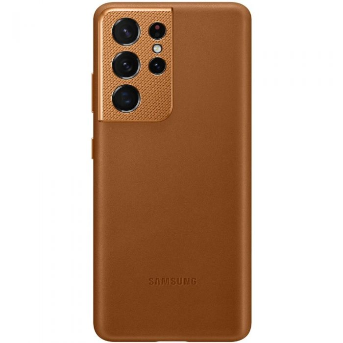 s21 ultra - samsung galaxy s21 ultra ef-vg998la brown leather cover - 1 - krytaren.sk