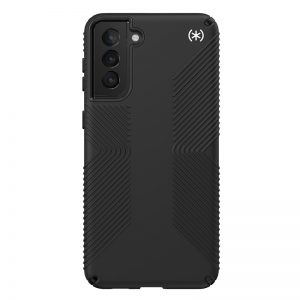 S21 Plus - Speck Presidio2 Grip Samsung Galaxy S21+ Plus with MICROBAN (Black/Black) - 2 - krytaren.sk