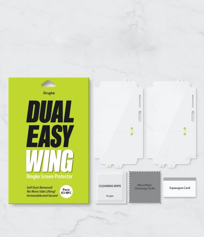 ringke dual easy wing full cover pocophone x3 nfc [2 pack] - export 745