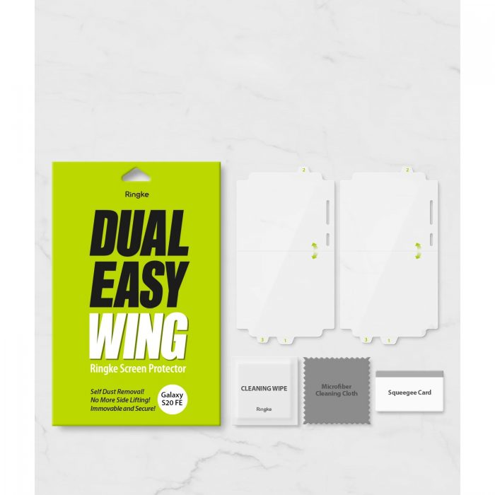 ringke dual easy wing full cover samsung galaxy s20 fe [2 pack] - export 981
