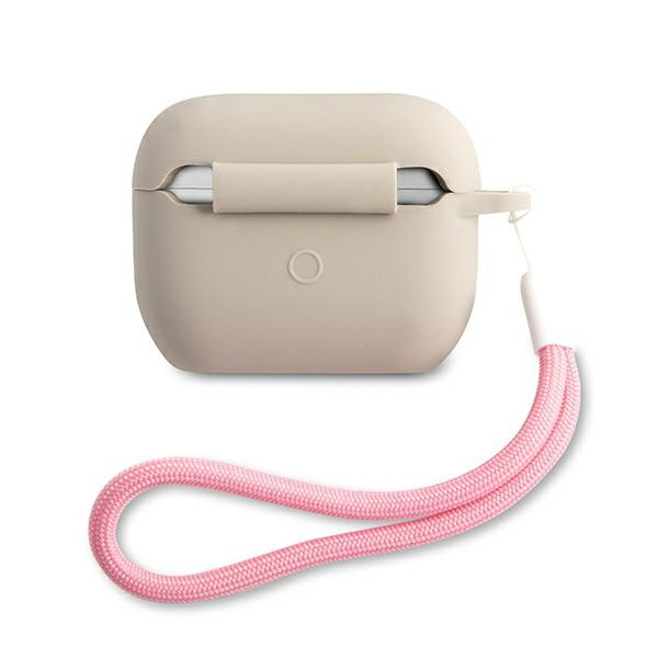 airpods - guess guacaplsvsgp apple airpods pro cover grey pink silicone vintage - 2 - krytaren.sk