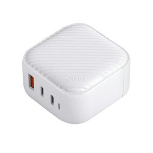 Wall Chargers - UNIQ Wall Charger Verge Pro 66W Gan USB-C cloud white - 1 - krytaren.sk