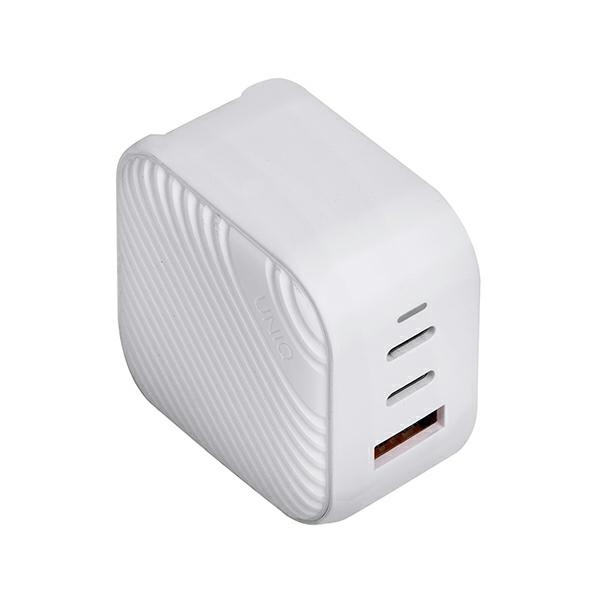 wall chargers - uniq wall charger verge pro 66w gan usb-c cloud white - 3 - krytaren.sk