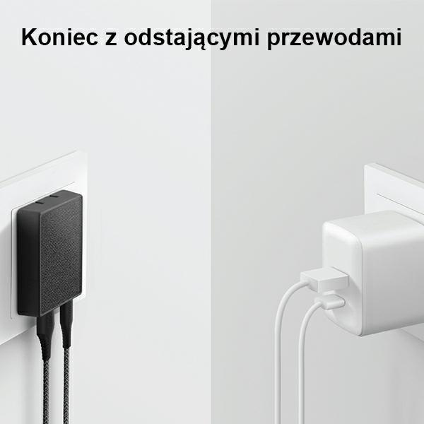 wall chargers - uniq wall charger votre slim duo 20w usb-c + usb-a charcoal black - 3 - krytaren.sk
