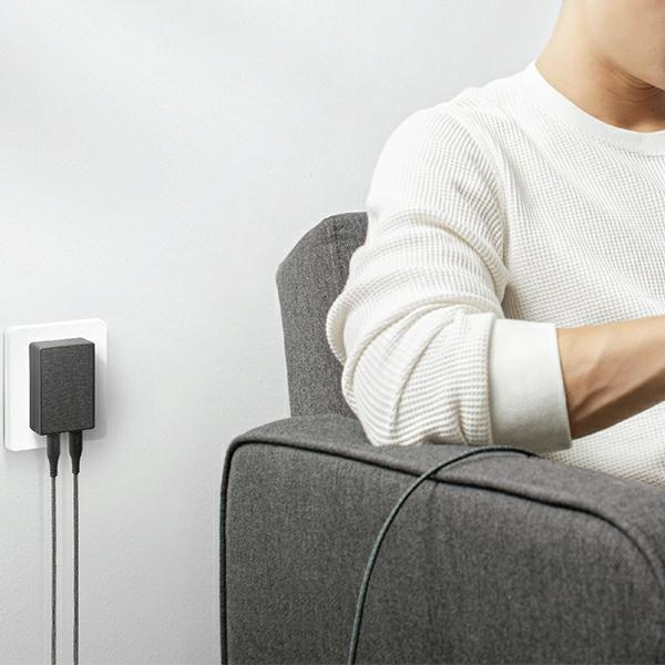 wall chargers - uniq wall charger votre slim duo 20w usb-c + usb-a charcoal black - 6 - krytaren.sk