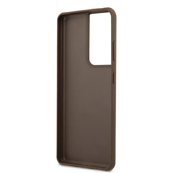 s21 ultra - guess guhcs21lg4gfbr samsung galaxy s21 ultra brown hard case 4g metal gold logo - 7 - krytaren.sk