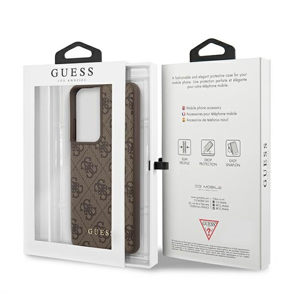 s21 ultra - guess guhcs21lg4gfbr samsung galaxy s21 ultra brown hard case 4g metal gold logo - 8 - krytaren.sk
