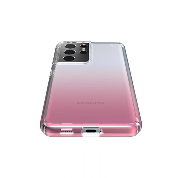 s21 ultra - speck presidio perfect-clear + ombre - case samsung galaxy s21 ultra with microban (clear/atmosphere fade) - 3 - krytaren.sk