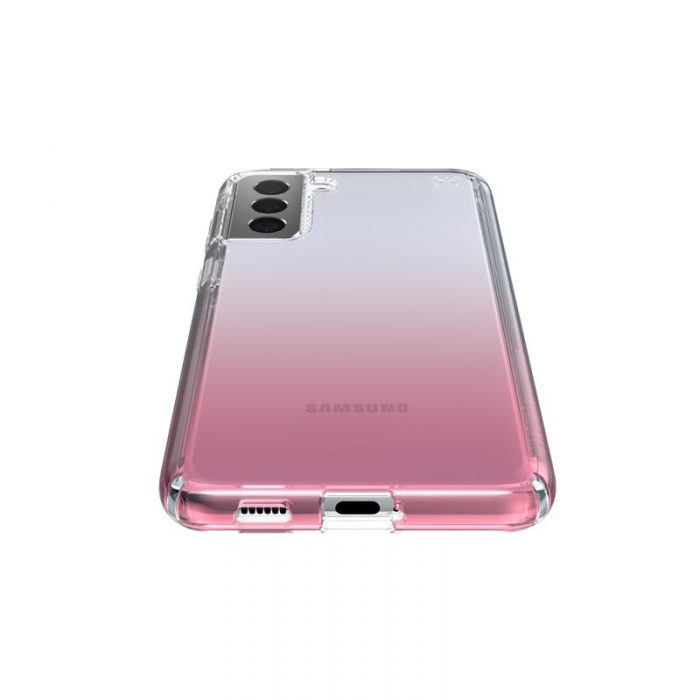 s21 plus - speck presidio perfect-clear + ombre - case samsung galaxy s21+ with microban (clear/atmosphere fade) - 3 - krytaren.sk