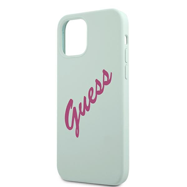 iphone 12 pro max - guess guhcp12llsvsbf apple iphone 12 pro max blue fuschia hardcase silicone vintage - 6 - krytaren.sk