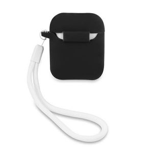 AirPods - Guess GUACA2LSVSBW Apple AirPods cover black white Silicone Vintage - 2 - krytaren.sk