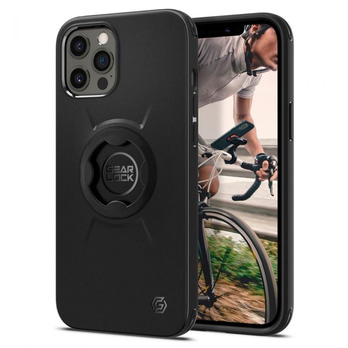 iphone 12 pro max - spigen gearlock gcf131 bike mount case apple iphone 12 pro max black - 1 - krytaren.sk