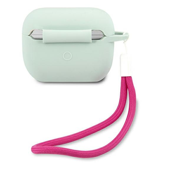 airpods - guess guacaplsvsbf apple airpods pro cover blue fuschia silicone vintage - 2 - krytaren.sk
