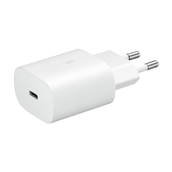 wall chargers - samsung wall charger ep-ta800xw pd 25w c + usb-c cable 1m white - 2 - krytaren.sk