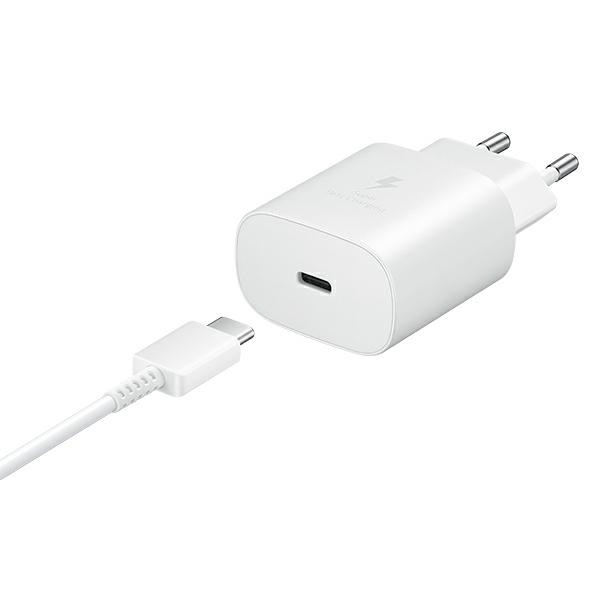 wall chargers - samsung wall charger ep-ta800xw pd 25w c + usb-c cable 1m white - 5 - krytaren.sk