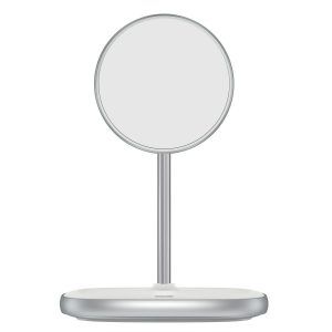 Wireless chargers - Baseus Swan MagSafe Magnetic Stand with Wireless Charger for iPhone 12 (white) - 1 - krytaren.sk