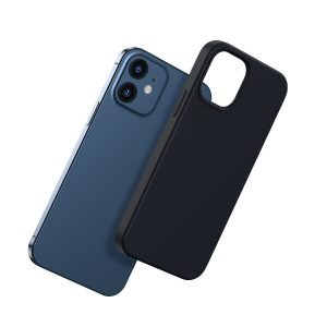 iPhone 12 mini - Baseus Liquid Silica Magnetic Case Apple iPhone 12 mini (Black) - 2 - krytaren.sk
