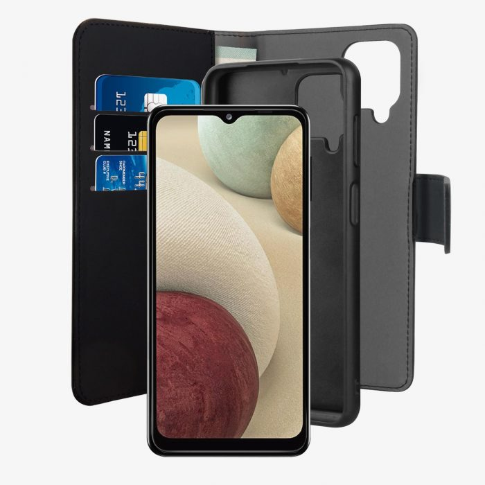 more a series - puro wallet detachable 2in1 samsung galaxy a12 (black) - 1 - krytaren.sk