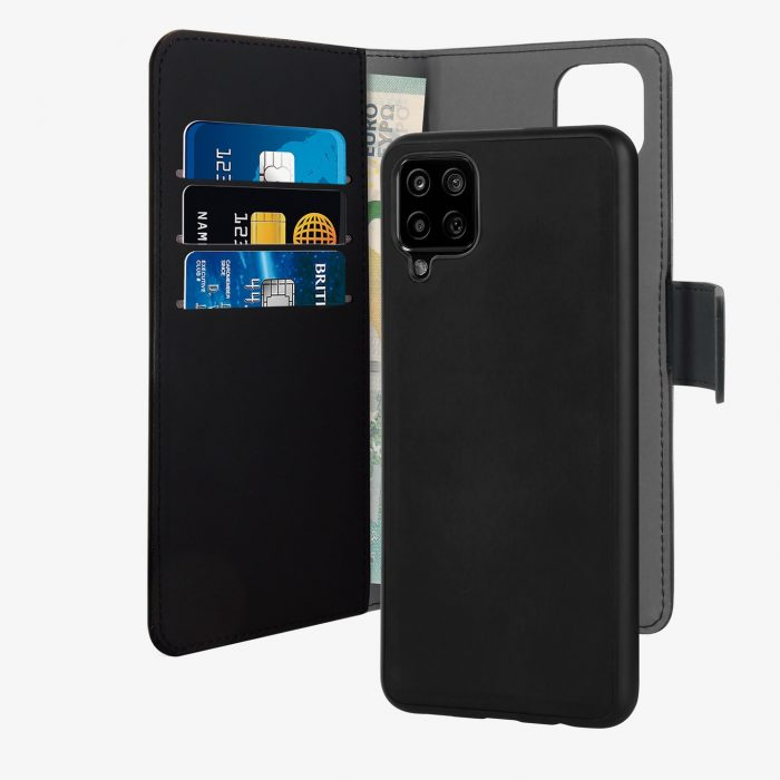 more a series - puro wallet detachable 2in1 samsung galaxy a12 (black) - 2 - krytaren.sk