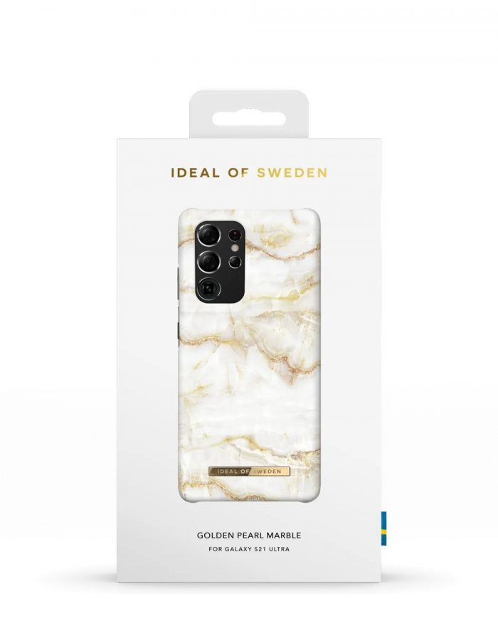 s21 ultra - ideal of sweden fashion samsung galaxy s21 ultra (golden pearl marble) - 4 - krytaren.sk