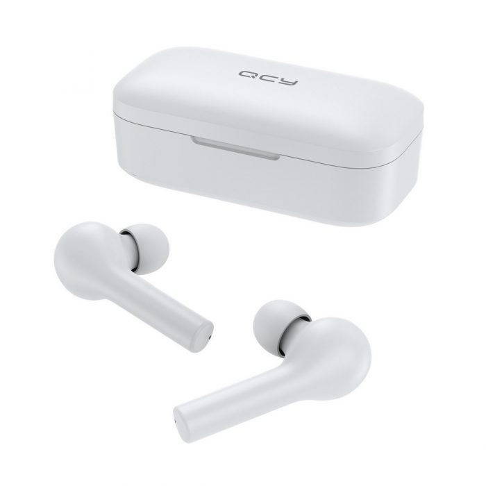 audio - qcy t5 tws wireless earphones bluetooth 5.0 (white) - 5 - krytaren.sk