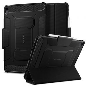 iPad Air 4 2020 - Spigen Rugged Armor Pro Apple iPad Air 4 2020 Black - 1 - krytaren.sk