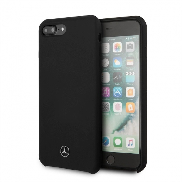 iphone 8 plus - mercedes mehci8lsilbk apple iphone 8/7 plus hardcase black slicone line - 1 - krytaren.sk