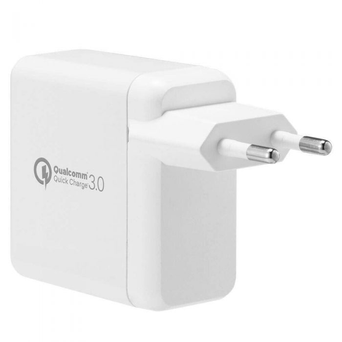 cables - spigen wall charger f207 quick charge 3.0 white - 5 - krytaren.sk