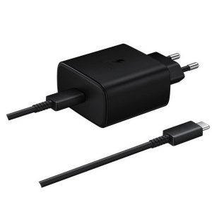 Wall Chargers - Samsung Charger EP-TA845XB PD 45W C to C Cable Super Fast Charge black - 1 - krytaren.sk
