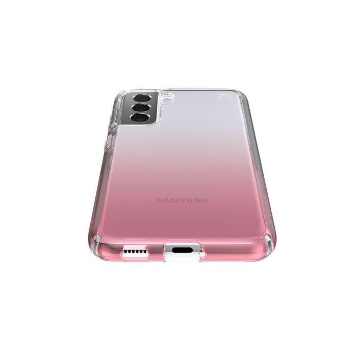 s21 - speck presidio perfect-clear + ombre - case samsung galaxy s21 with microban (clear/atmosphere fade) - 3 - krytaren.sk