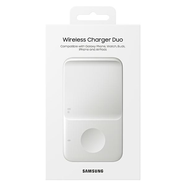 wireless chargers - samsung duo wireless charger ep-p4300tw white - 7 - krytaren.sk