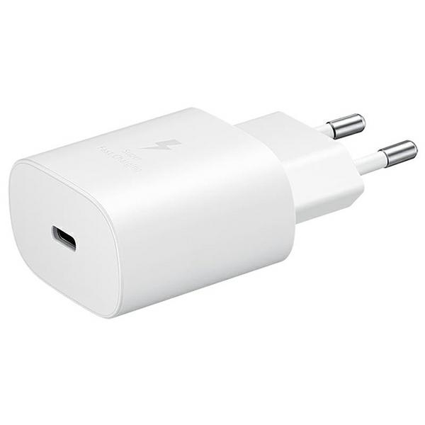 wall chargers - samsung wall charger ep-ta800nw pd 25w usb-c white - 1 - krytaren.sk