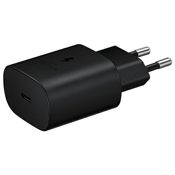 wall chargers - samsung wall charger ep-ta800nb pd 25w usb-c black - 1 - krytaren.sk