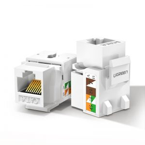 Other accessories - Ugreen unshielded network modules Ethernet Cat 6 8P8C RJ45 1000 Mbps 568A/B white (80178 NW143) - 1 - krytaren.sk