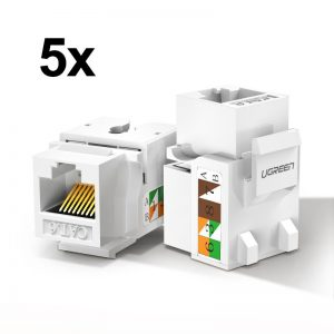 Other accessories - Ugreen 5x unshielded network modules Ethernet Cat 6 8P8C RJ45 1000 Mbps 568A/B white (80179 NW143) - 1 - krytaren.sk