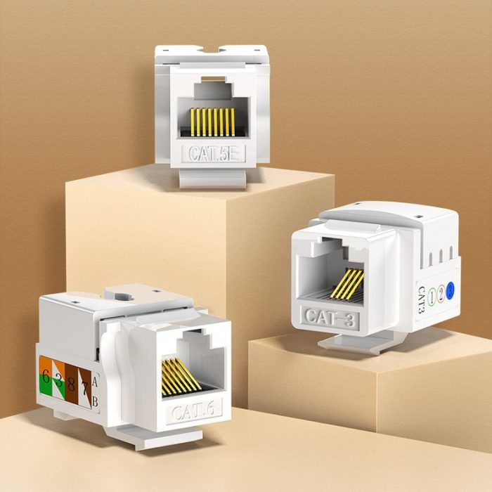other accessories - ugreen 5x unshielded network modules ethernet cat 6 8p8c rj45 1000 mbps 568a/b white (80179 nw143) - 2 - krytaren.sk