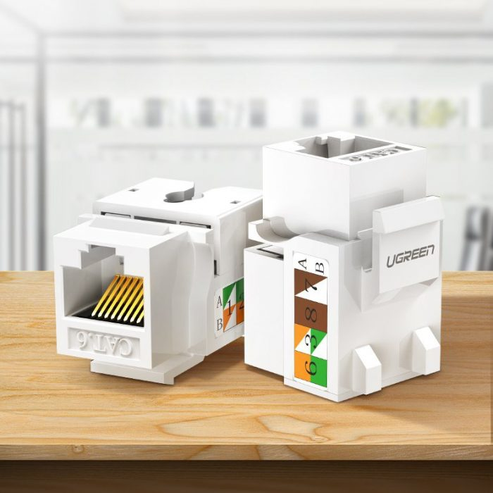 other accessories - ugreen 5x unshielded network modules ethernet cat 6 8p8c rj45 1000 mbps 568a/b white (80179 nw143) - 3 - krytaren.sk