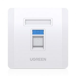 Other accessories - Ugreen 5x wall socket internet LAN RJ45 86 mm x 86 mm white (80181 NW144) - 1 - krytaren.sk