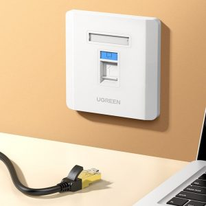 Other accessories - Ugreen 5x wall socket internet LAN RJ45 86 mm x 86 mm white (80181 NW144) - 2 - krytaren.sk