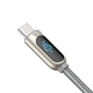 USB-C - USB-A - Baseus Display Cable USB to Type-C 5A 1m (silver) - 2 - krytaren.sk