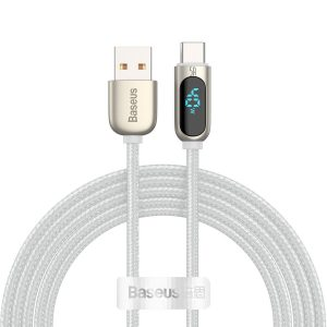 USB-C - USB-A - Baseus Display Cable USB to Type-C 5A 40W 2m (white) - 1 - krytaren.sk