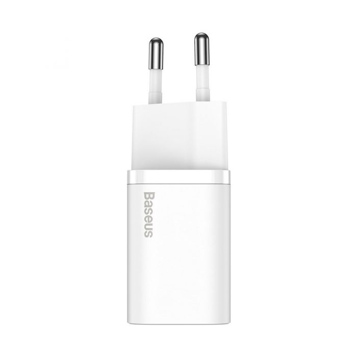 wall chargers - baseus super si quick charger 1c 20w (white) - 2 - krytaren.sk