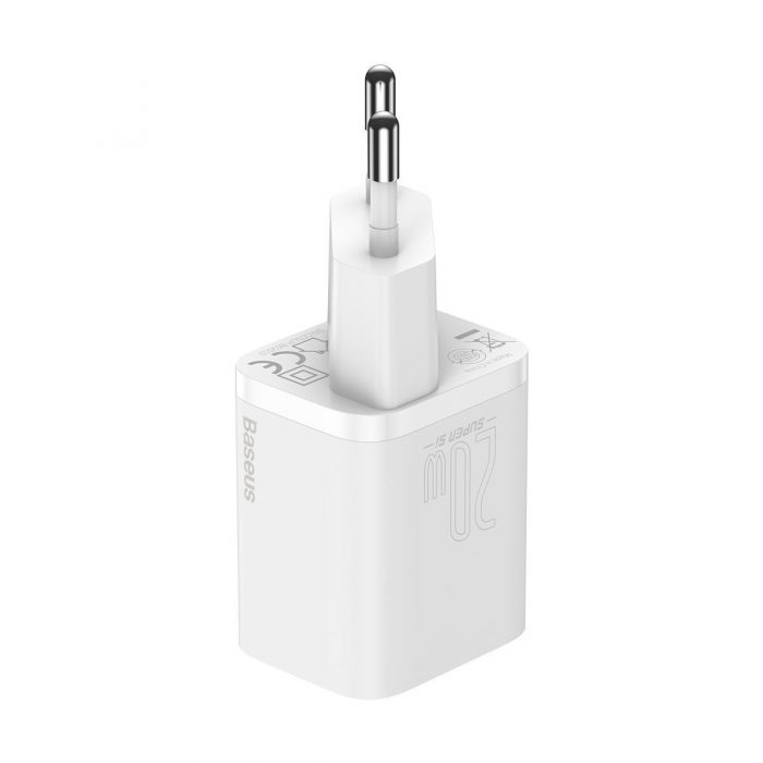 wall chargers - baseus super si quick charger 1c 20w (white) - 3 - krytaren.sk