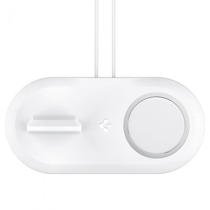 wireless chargers - spigen magfit duo apple magsafe & apple watch charger stand white - 4 - krytaren.sk