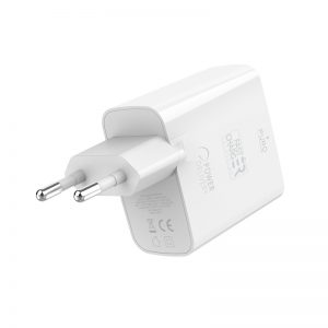 Wall Chargers - PURO Mini Fast Travel Charger USB-A + USB-C Power Delivery 32W (white) - 2 - krytaren.sk