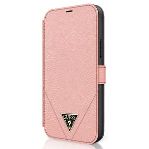 iPhone 12 Pro - Guess GUFLBKP12MVSATMLPI Apple iPhone 12/12 Pro pink book Saffiano - 2 - krytaren.sk