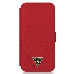 iPhone 12 Pro - Guess GUFLBKP12MVSATMLRE Apple iPhone 12/12 Pro red book Saffiano - 1 - krytaren.sk