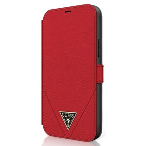 iPhone 12 Pro - Guess GUFLBKP12MVSATMLRE Apple iPhone 12/12 Pro red book Saffiano - 2 - krytaren.sk