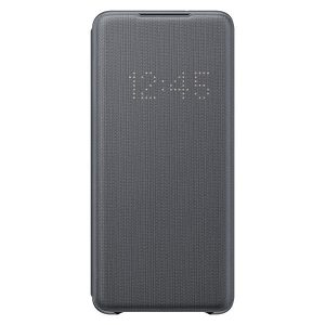 S20 Plus - Samsung Galaxy S20+ Plus EF-NG985PJ gray LED View Cover - 1 - krytaren.sk