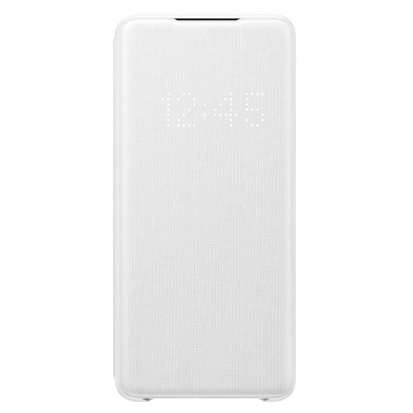 s20 plus - samsung galaxy s20+ plus ef-ng985pw white led view cover - 1 - krytaren.sk